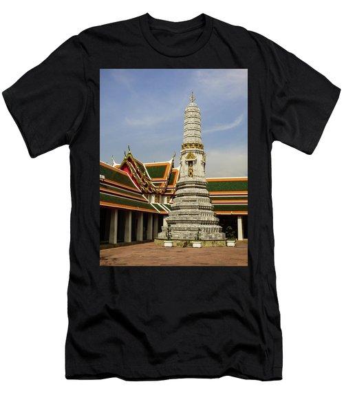 Phra Prang Tower At Wat Pho Temple Men's T-Shirt (Athletic Fit)
