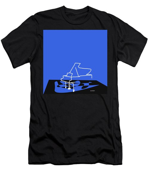 Piano In Blue Men's T-Shirt (Slim Fit) by David Bridburg