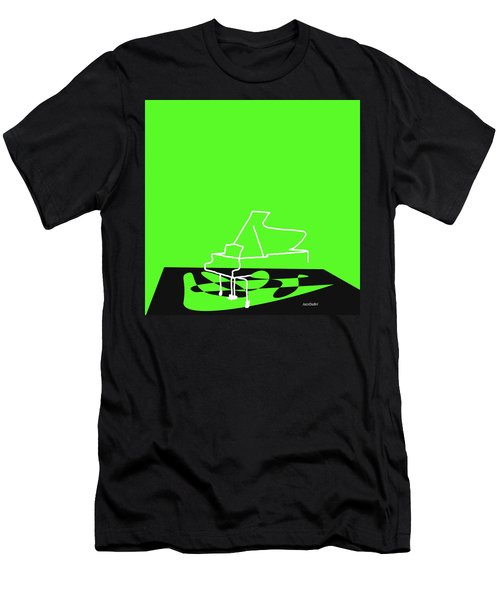 Piano In Green Men's T-Shirt (Slim Fit) by David Bridburg