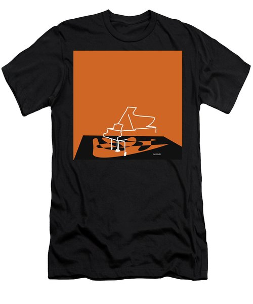 Piano In Orange Men's T-Shirt (Slim Fit) by David Bridburg