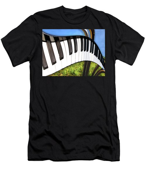 Men's T-Shirt (Athletic Fit) featuring the photograph Piano Land by Paul Wear