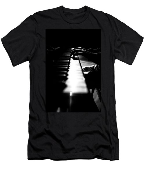 Piano Player Men's T-Shirt (Athletic Fit)