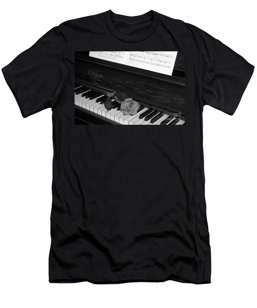 Piano Rose Men's T-Shirt (Athletic Fit)