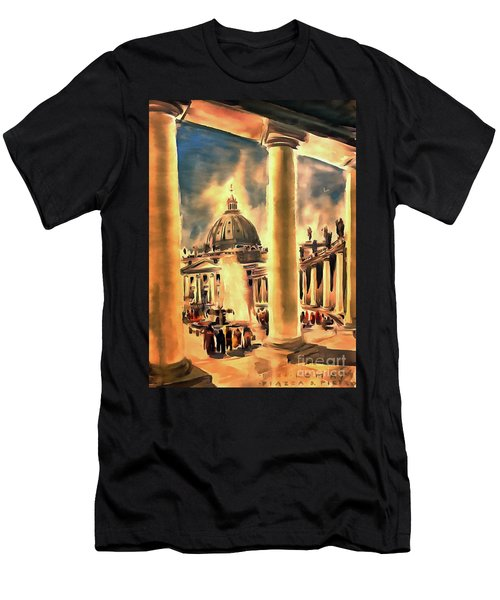 Piazza San Pietro In Roma Italy Men's T-Shirt (Athletic Fit)