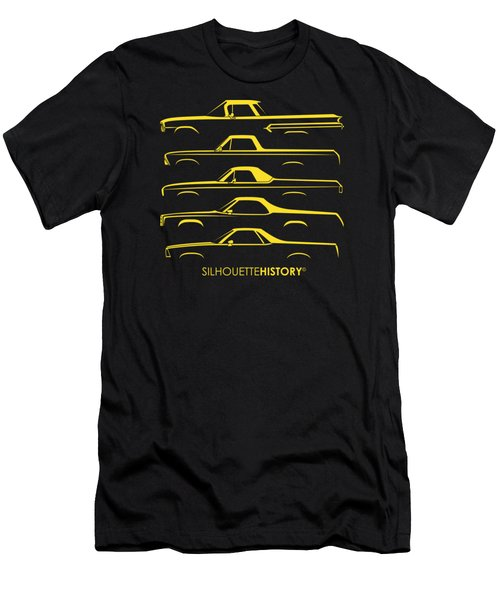 Pickupino Silhouettehistory Men's T-Shirt (Athletic Fit)