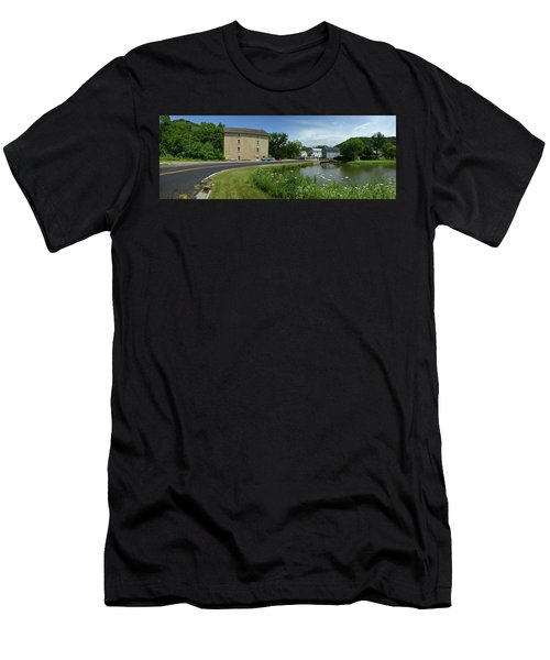 Men's T-Shirt (Slim Fit) featuring the photograph Pickwick Mill Panorama by Janice Adomeit