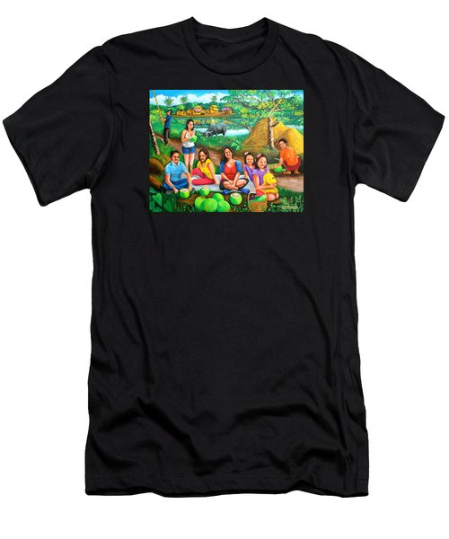 Picnic At The Farm Men's T-Shirt (Athletic Fit)