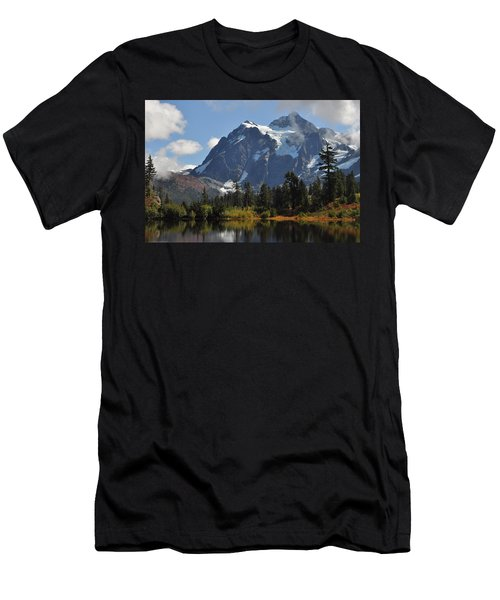 Picture Lake And Mount Shuksan Men's T-Shirt (Athletic Fit)