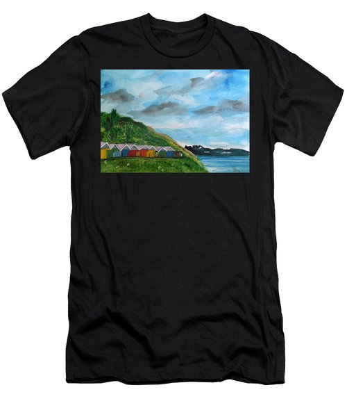Picture Postcard View Of Scarborough Men's T-Shirt (Athletic Fit)