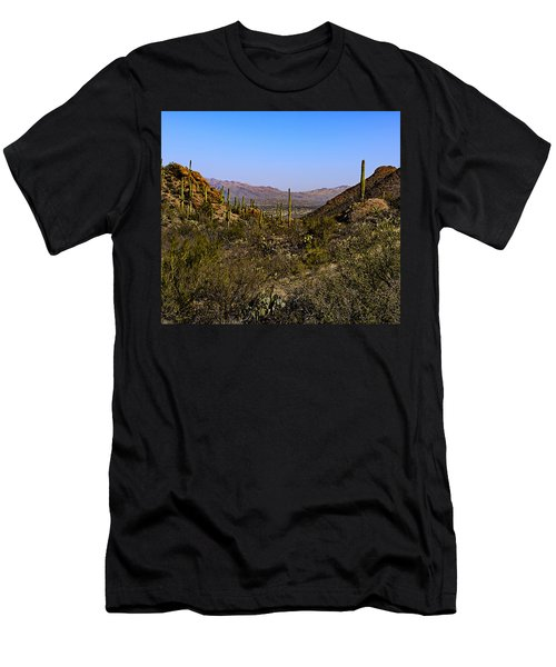 Men's T-Shirt (Athletic Fit) featuring the photograph Picture Rocks 24 by Mark Myhaver
