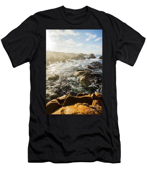 Picturesque Australian Beach Landscape Men's T-Shirt (Athletic Fit)