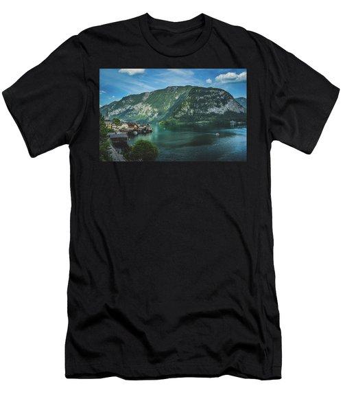 Picturesque Hallstatt Village Men's T-Shirt (Athletic Fit)
