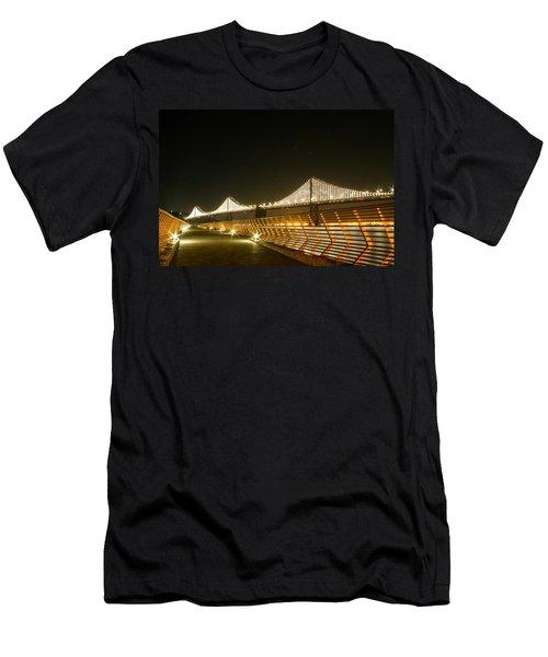 Pier 14 And Bay Bridge Lights Men's T-Shirt (Athletic Fit)