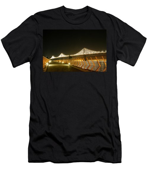 Pier 14 And Bay Bridge Lights Men's T-Shirt (Athletic Fit)
