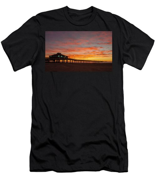 Pier At Sunrise Port Aransas Tx Men's T-Shirt (Athletic Fit)