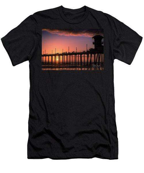 Pier At Sunset Men's T-Shirt (Athletic Fit)