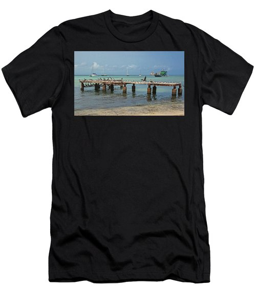 Pier For Birds Men's T-Shirt (Athletic Fit)