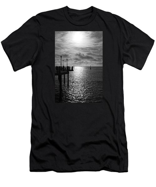 Men's T-Shirt (Athletic Fit) featuring the photograph Pier Into The Sun by Michael Hope