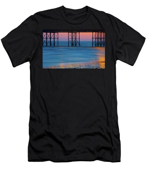 Pier Supports At Sunset I Men's T-Shirt (Athletic Fit)