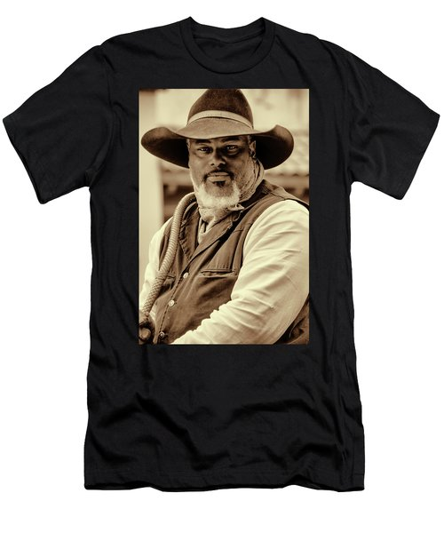 Men's T-Shirt (Athletic Fit) featuring the photograph Piercing Eyes Of The Cowboy by Jeanne May