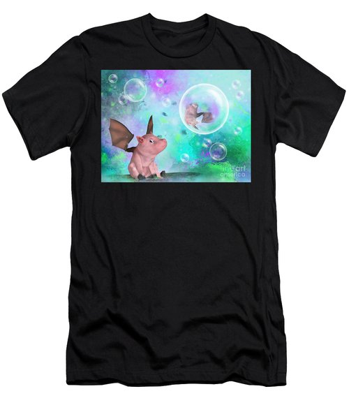 Pig In A Bubble Men's T-Shirt (Athletic Fit)