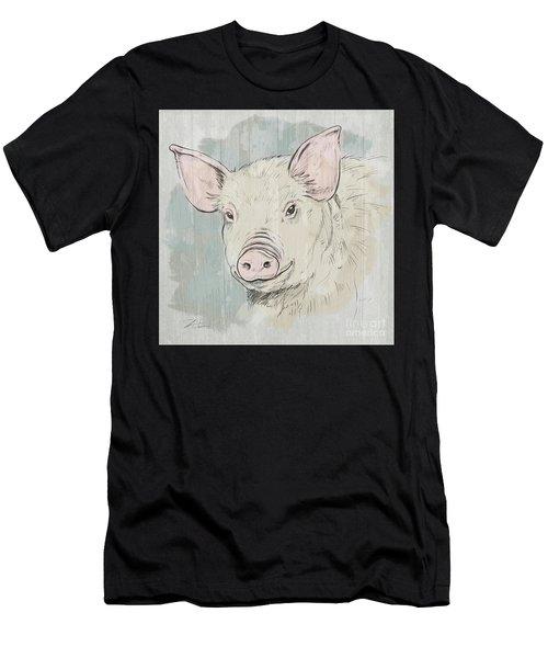 Pig Portrait-farm Animals Men's T-Shirt (Athletic Fit)