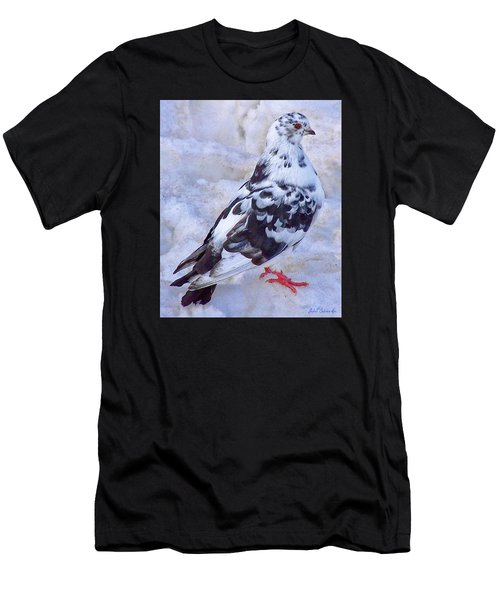 Pigeon On Ice  1 Men's T-Shirt (Athletic Fit)