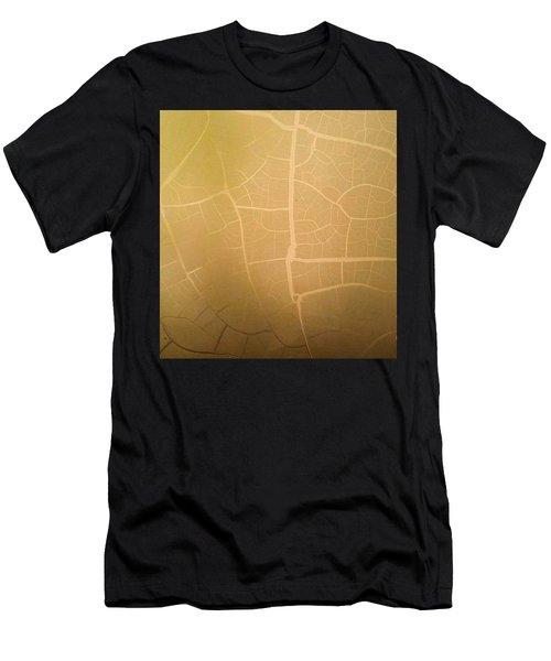 Pillow Pattern Amber Leaf/crackle Men's T-Shirt (Athletic Fit)