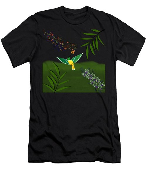 Humming Bird On Transparent Background Men's T-Shirt (Athletic Fit)