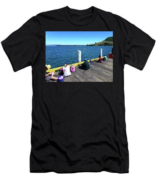 Pilot Bay 1 - Mount Maunganui Tauranga New Zealand Men's T-Shirt (Athletic Fit)