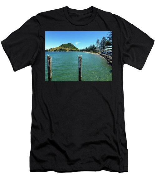 Pilot Bay Beach 1 - Mt Maunganui Tauranga New Zealand Men's T-Shirt (Athletic Fit)