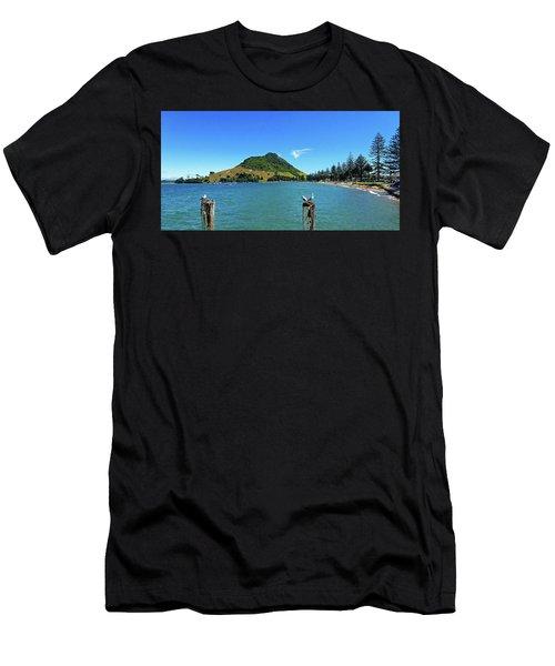 Pilot Bay Beach 2 - Mount Maunganui Tauranga New Zealand Men's T-Shirt (Athletic Fit)