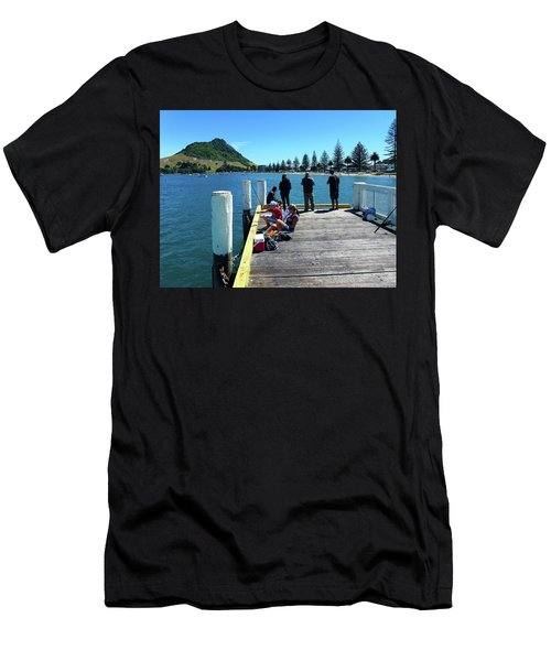 Pilot Bay Beach 7 - Mt Maunganui Tauranga New Zealand Men's T-Shirt (Athletic Fit)