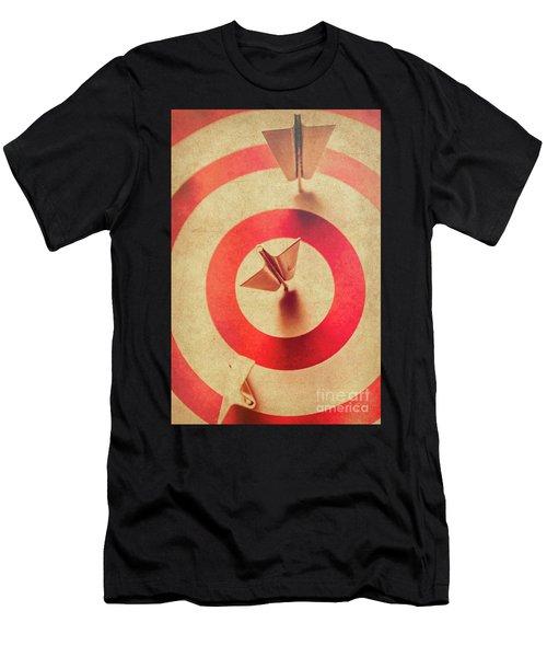 Pin Plane Darts Hitting Goals Men's T-Shirt (Athletic Fit)
