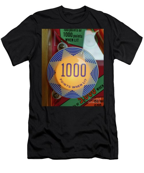 Pinball 1000 Points When Lit Men's T-Shirt (Athletic Fit)