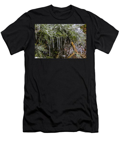 Pine Needlecicles Men's T-Shirt (Slim Fit) by Barbara Bowen