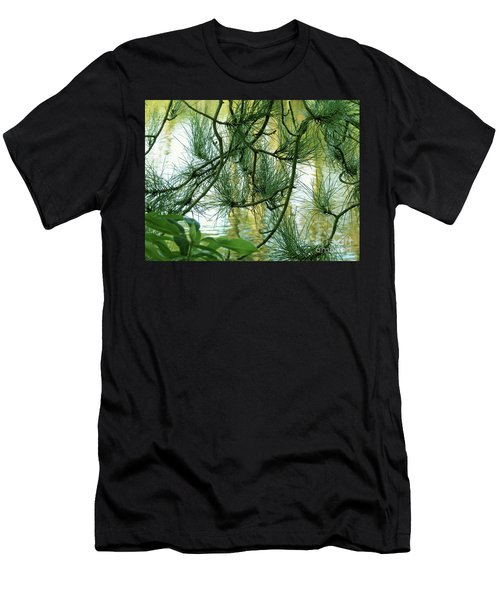 Pine Needles Patchwork Men's T-Shirt (Athletic Fit)