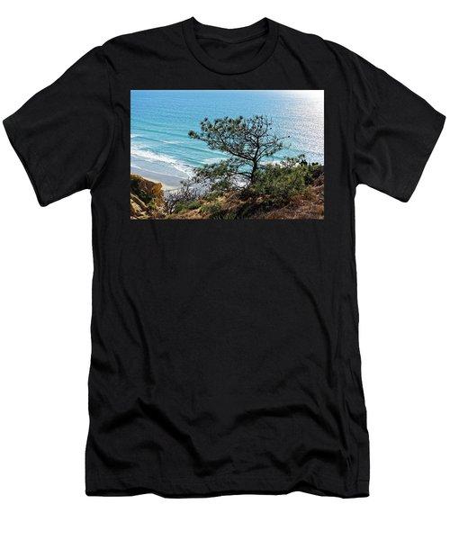 Pine Tree On Coast Men's T-Shirt (Athletic Fit)