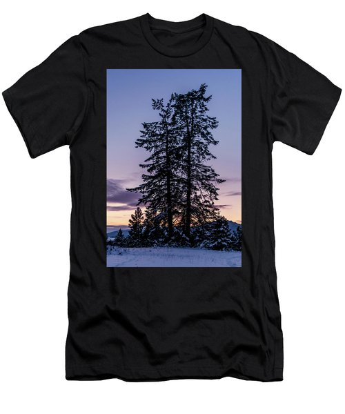 Pine Tree Silhouette    Men's T-Shirt (Athletic Fit)