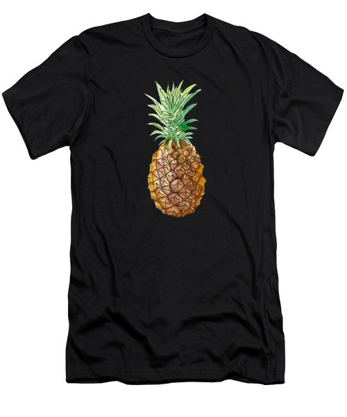 Pineapple On Black Men's T-Shirt (Athletic Fit)