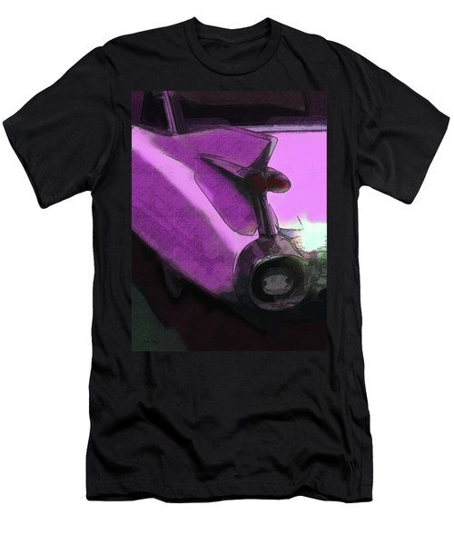 Pink 1959 Cadillac Tailfin Pop Men's T-Shirt (Athletic Fit)