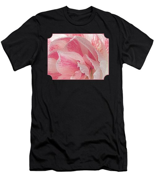 Pink Amaryllis Abstract Men's T-Shirt (Athletic Fit)