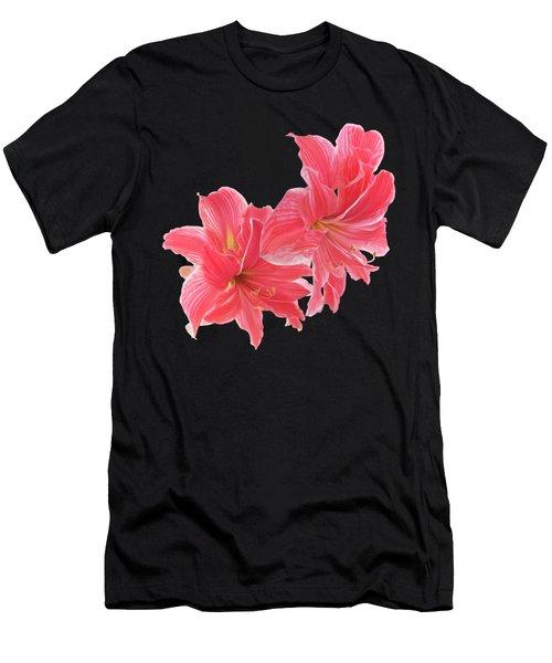 Pink Amaryllis At Sunset Men's T-Shirt (Athletic Fit)