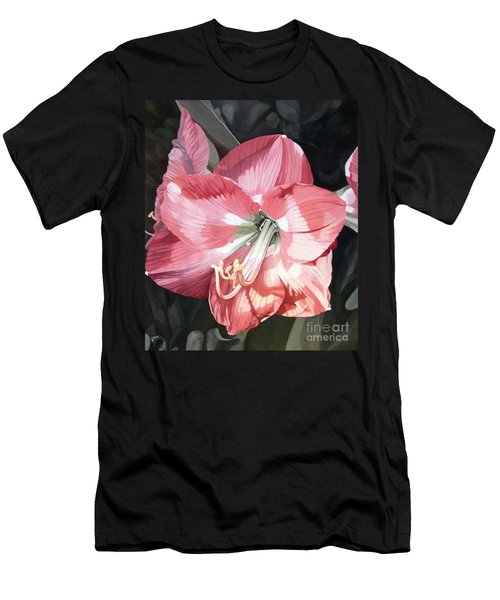 Pink Amaryllis Men's T-Shirt (Athletic Fit)