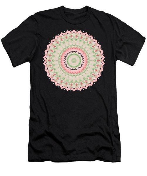 Pink And Green Mandala Fractal 004 Men's T-Shirt (Athletic Fit)