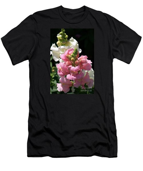 Men's T-Shirt (Slim Fit) featuring the photograph Sweet Peas by Eunice Miller