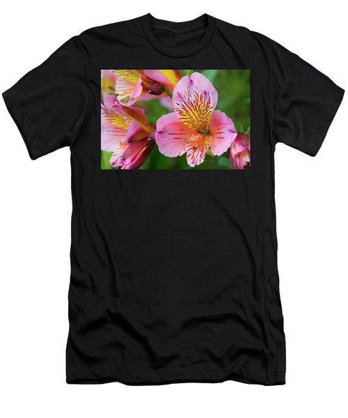 Pink And Yellow Flora Men's T-Shirt (Athletic Fit)