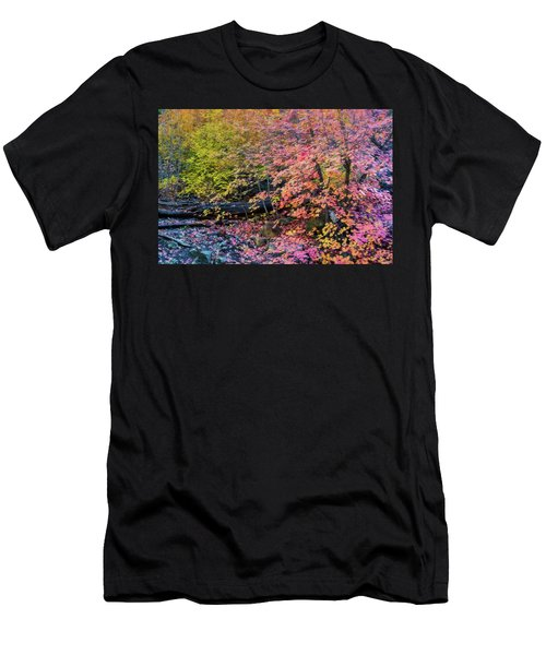Men's T-Shirt (Athletic Fit) featuring the photograph Pink And Yellow Maple  by Saija Lehtonen