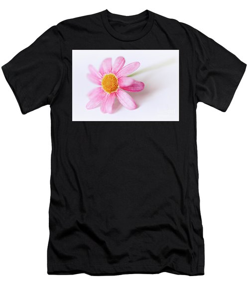 Men's T-Shirt (Athletic Fit) featuring the photograph Pink Aster Flower II by Nick Biemans