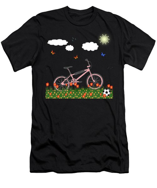Pink Bicycle Men's T-Shirt (Athletic Fit)
